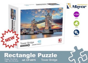 Puzzle ALEX BOG Adulto 1000 Piezas 70 x 50 cm. Tower Bridge