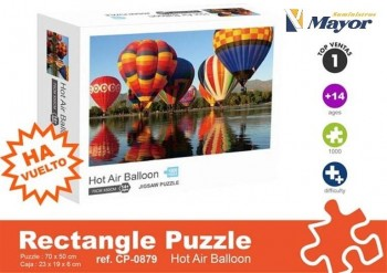 Puzzle ALEX BOG Adulto 1000 Piezas 70 x 50 cm. Hot Air Balloon