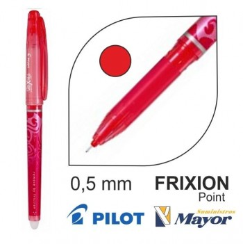 Boligrafo borrable PILOT frixion Point punta fina 0,5 rojo