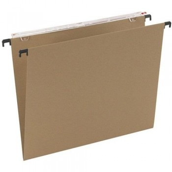 Carpeta colgante KORES Varilla metal folio visor superor largo kraft