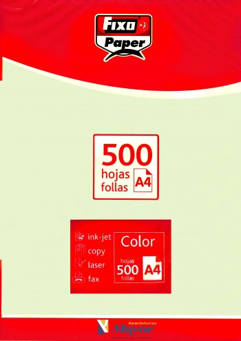 Papel multifuncion Color FIXO A4 claro 80 gr. Verde claro 500 hojas