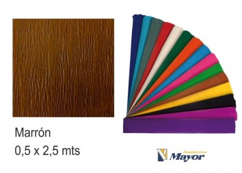 Papel crespón SMART 2,50 x 0,50 m. marron