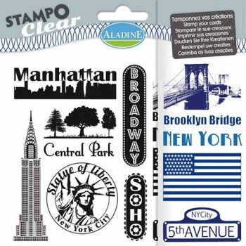 Manuales sellos ALADINE Stampo Clear new york