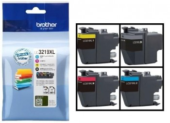 BROTHER inkjet LC3219Xval kit 4 colores 3000 páginas.