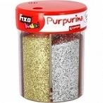 Purpurina FIXO brillantina en polvo 6 colores metalizados 80 gr.