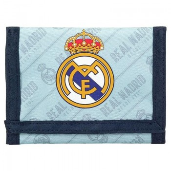 Cartera Billetera REAL MADRID corporativa velcro dos azules