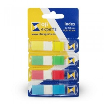 Banderitas index OFIEXPERTS  12 x 43 mm. 4 colores 144 unidades