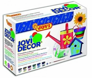 Pintura acrilica JOVIDECOR Multisuperficies Colores basicos 6 botes de 55 ml.