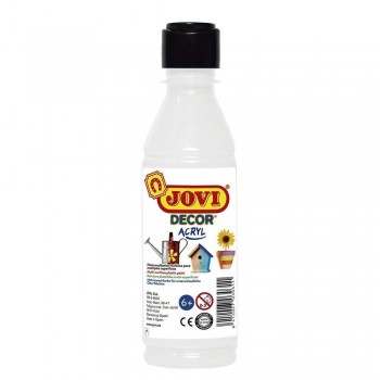 Pintura acrilica JOVIDECOR Multisuperficie 250 ml. Blanco.