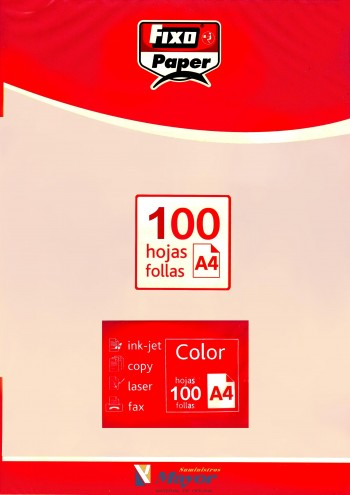 Papel multifuncion Color FIXO A4 claro 80 gr. Crema 100 hojas