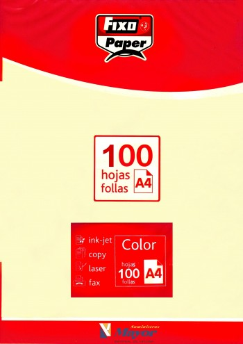 Papel multifuncion Color FIXO A4 claro 80 gr. Marfil 100 hojas