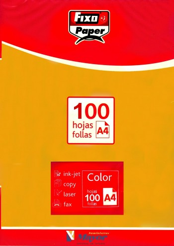 Papel multifuncion Color FIXO A4 intenso 80 gr. Oro vivo 100 hojas