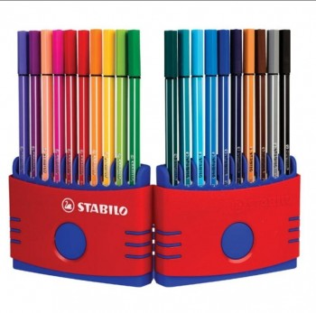 Rotuladores STABILO pen 68 acuarelable punta fibra 1 mm. estuche 20 colores