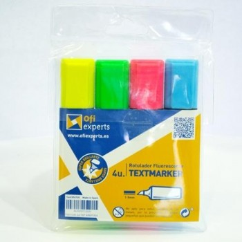 Rotulador fluorescente OFIEXPERTS pack Clasico 4 colores