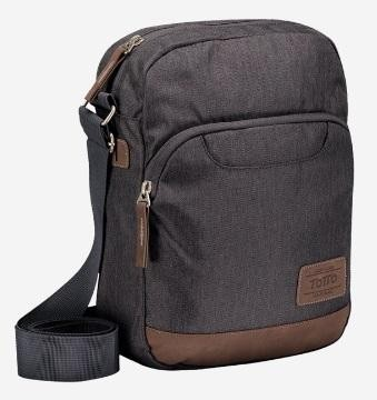 Bolso TOTTO bandolera multiusos Universitario Clever delivery 1720M-G98 tablet Etc. Gris/Negro