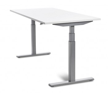 Mesa Oficina ROCADA  E-table Regulable Metal aluminioTablero Blanco