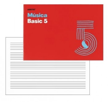 Bloc Musica ADDITIO 5 Pentegramas 16 mm. 54 x 17 cm. grapado