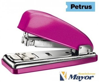 Grapadora PETRUS 226 Metalica 30 hojas NOW grapas 22/6 Fucsia