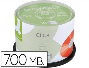 CD-R Q-CONNECT 700 mb. 52 x. bobina de 50 unidades