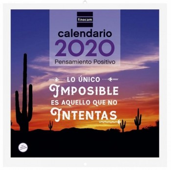 Calendario pared FINOCAM 300 x 300 mm. imagenes Pensamiento Positivo 2020