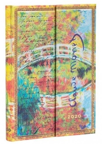 Agenda anual PAPERBLANKS Mini 100x140 mm.Seman vista horizontal Monet 2020