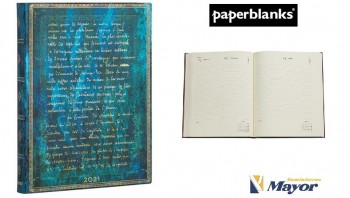Agenda anual PAPERBLANKS Flexis Ultra 180x230 mm. Dia pagina horizontal Julio Verne 2021