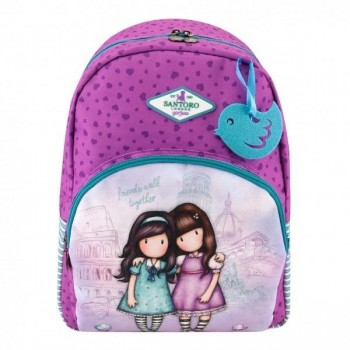 Mochila GORJUSS Escolar adaptable doble bolsillo Friends