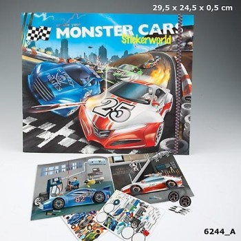 MONSTER CARS Cuederno Creat your Stickerworld
