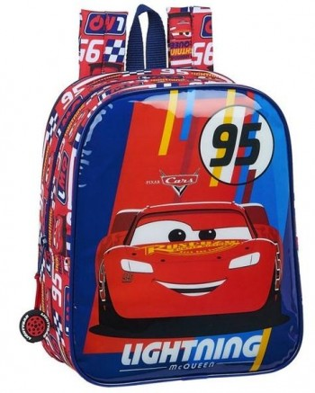 Mochila Disney CARS Racing Block Guarderia 27 x 22 x 10 cm. adaptable a carro