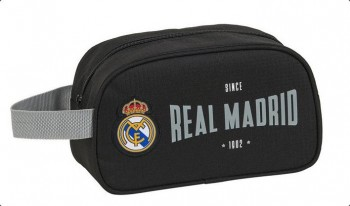 Neceser REAL MADRID Negro 1902 Adaptable a carro 26 x 15 x 12 cm. Con asa