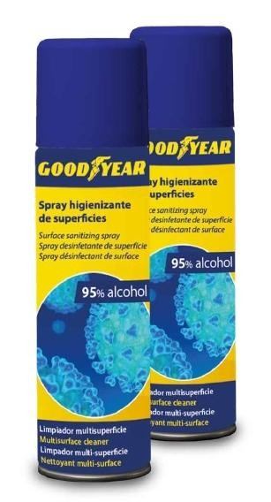 Higienizante GOODYEAR Spray Desinfecta Limpia y contra Virus Bote 500 ml.