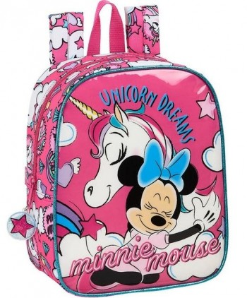 Mochila DISNEY MINNIE Unicorns Guarderia 27 x 22 x 10 cm. Adaptable a carro