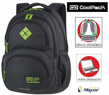 Mochila COOLPACK Dart Grey/Lemon Porta Pc.