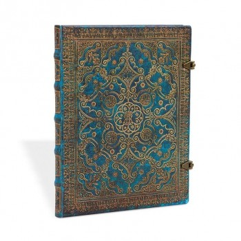 Bloc PAPERBLANKS Ultra 180x230 Liso 144 paginas con broche Azur
