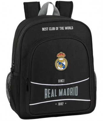 Mochila REAL MADRID Negra 1902 Junior adaptable 32 x 12 x 38 cm.