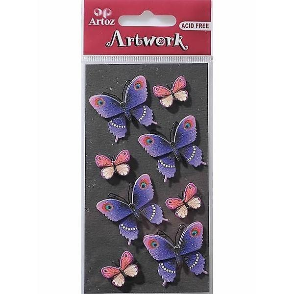 Artoz artwork 3d-sticker mariposas y flores