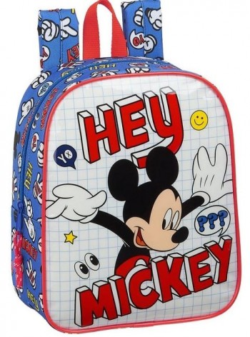 Mochila Disney MICKEY Things Guarderia 27 x 22 x 10 cm. Adaptable a carro
