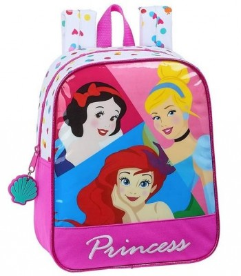 Mochila DISNEY PRINCESS Guarderia 27 x 22 x 10 cm. Be Bright adaptable a carro