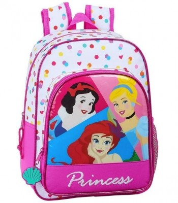 Mochila DISNEY PRINCESS Infantil 34 x 26 x 11 cm. Be Bright adaptable a carro