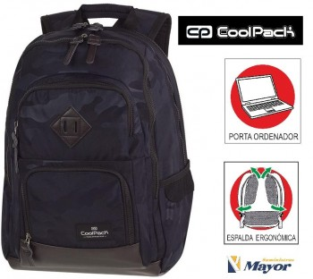 Mochila COOLPACK unit camo black A560 pota PC.