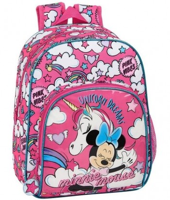 Mochila DISNEY MINNIE Unicorns Infantil 34 x 28 x 10 cm. Adaptable a carro
