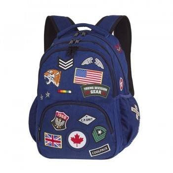 Mochila COOLPACK Bentley Badges Navy A408 porta Pc.