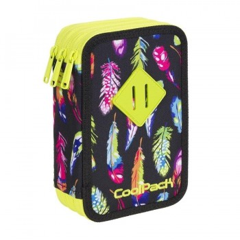 Plumier COOLPACK Triple Feathers A441 con contenido