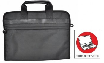 Maletin OFFICE BOX bandolera Smartline con Porta PC. Negro