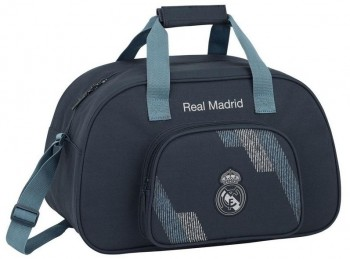 Bolsa deportes REAL MADRID pequeña 40 x 24 x 23 cm. Gris oscuro