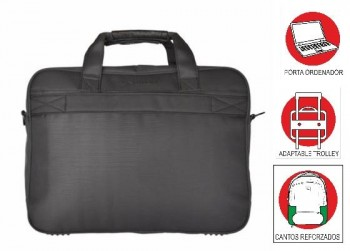 Maletin OFFICE BOX bandolera Smartline Bussines con Porta PC. Negro
