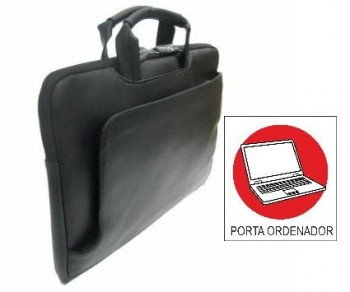 Maletin OFFICE BOX con porta Pc. bandolera regent negro