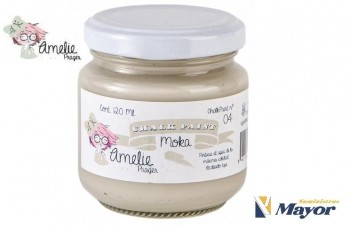 Pintura Tiza AMELIE Extra Mate CHALK PAINT ALL esmalte al agua 120 ml. Moka