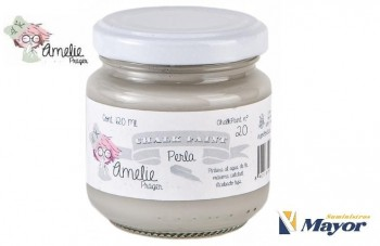 Pintura Tiza AMELIE Extra Mate CHALK PAINT ALL esmalte al agua 120 ml. Perla