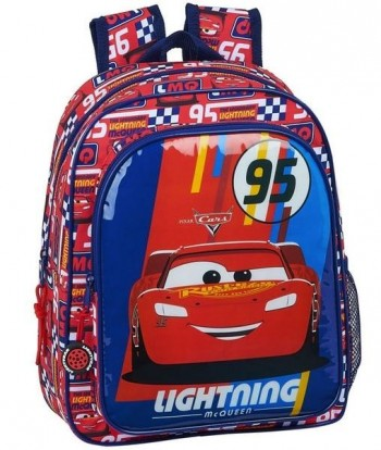 Mochila Disney CARS Racing Block Infantil 33 x 27 x 10 cm. adaptable a carro